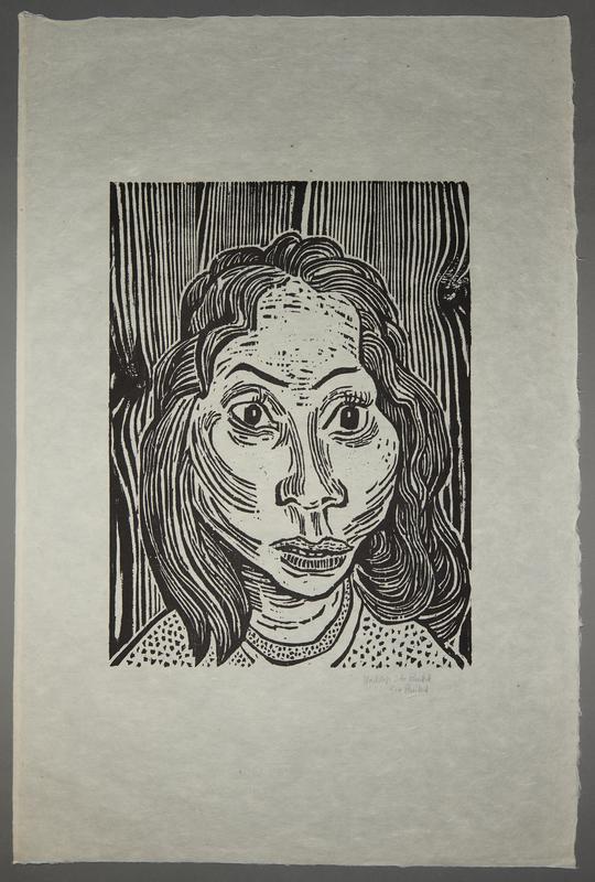 1994.10.5 front Otto Pankok woodcut of a Sinti woman