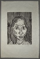 1994.10.5 front Otto Pankok woodcut of a Sinti woman  Click to enlarge