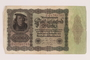 Weimar Germany, 50000 mark note, from the album of a Waffen-SS officer acquired by an American soldier
