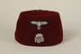 Waffen SS red fez acquired by a US soldier in Germany