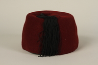 1994.101.1 back Waffen SS red fez acquired by a US soldier in Germany  Click to enlarge