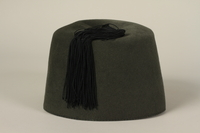 1994.101.2 back Waffen SS green fez found in Dachau by a US soldier  Click to enlarge