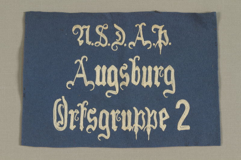 1994.101.3 front Nazi banner acquired by a US soldier