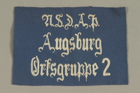 1994.101.3 front Nazi banner acquired by a US soldier  Click to enlarge