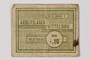 Mittelbau forced labor camp scrip, -.10 Reichsmark, issued to a Polish political prisoner