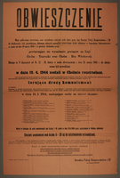 1994.108.6 front Ghetto announcement issued for the District of Lublin, Poland.  Click to enlarge