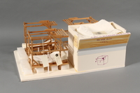 1989.119 front Scale model of Block 5 men's barracks at Theresienstadt made by a former Jewish Czech inmate  Click to enlarge