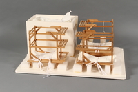1989.119 back Scale model of Block 5 men's barracks at Theresienstadt made by a former Jewish Czech inmate  Click to enlarge