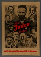 1994.110.3 front Anti-semitic propaganda poster  Click to enlarge