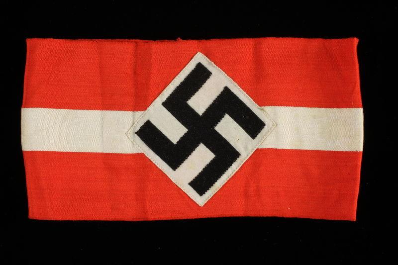 1994.112.1 front Nazi Party swastika armband