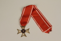 1994.114.1.1_a-b front Order of Polonia Restituta medal and ribbon  Click to enlarge
