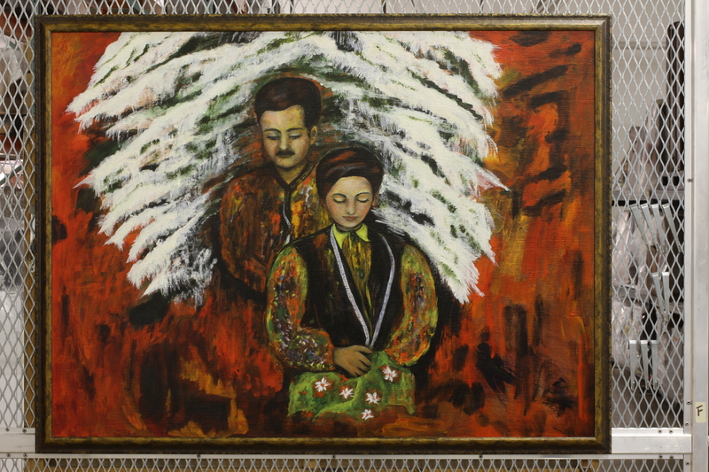 2014.513.1 front Postwar painting of a Polish Jewish female survivor