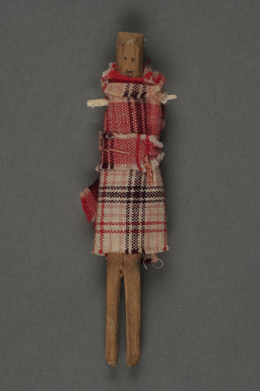 2013.462.2 front Small doll made from a stick by a French Jewish hidden child