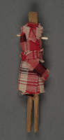 2013.462.2 back Small doll made from a stick by a French Jewish hidden child  Click to enlarge