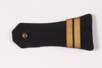 2009.410.4_b top Pair of dark blue shoulder boards with gold bars  Click to enlarge