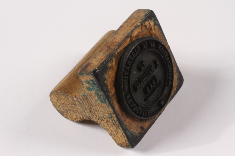 2009.410.5 right side Rubber stamp