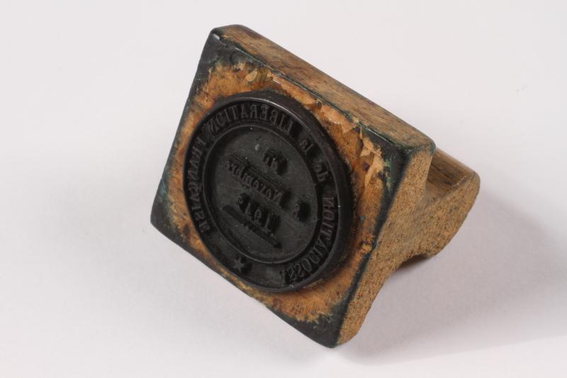 2009.410.5 left side Rubber stamp