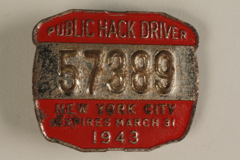 1994.12.8 front NYC taxicab medallion