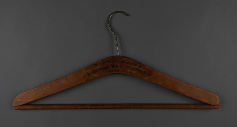 2013.463.2 front Wooden hanger from prewar Vienna