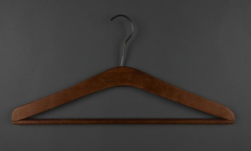 2013.463.2  back Wooden hanger from prewar Vienna