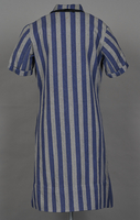 1994.24.1 back Concentration camp uniform dress with number 94593 worn by a German Jewish inmate  Click to enlarge