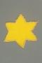 Yellow cloth Star of David badge worn by a Jewish boy in Budapest