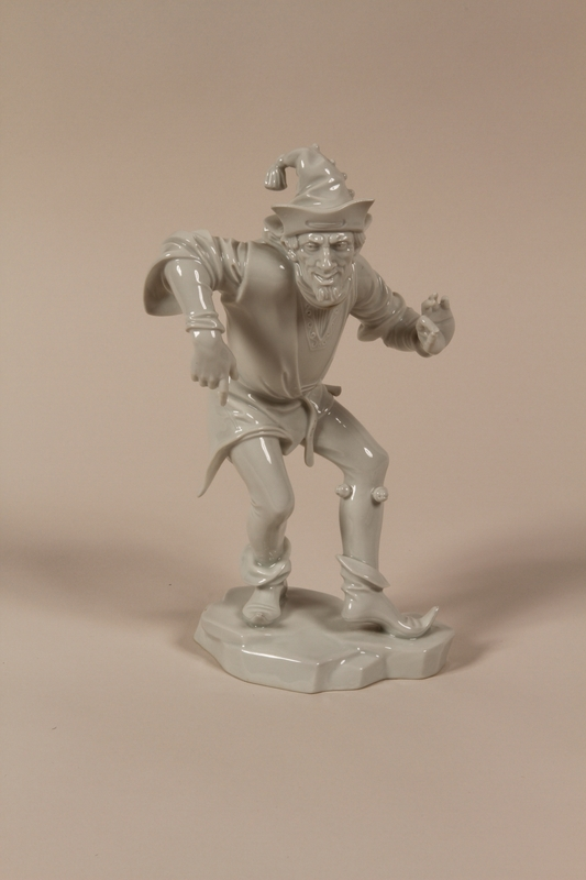 1994.46.1 front Allach porcelain figurine found by a US Army nurse in Dachau concentration camp post-liberation