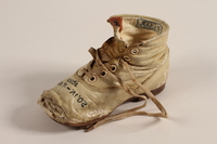 1994.53.7 b front Pair of toddler's shoes owned by a Jewish child refugee  Click to enlarge