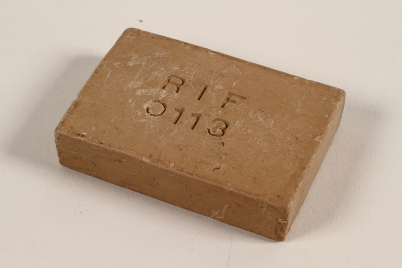 1994.55.6 Bar of soap issued to a Polish Jewish concentration camp inmate
