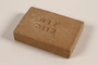 Bar of soap issued to a Polish Jewish concentration camp inmate