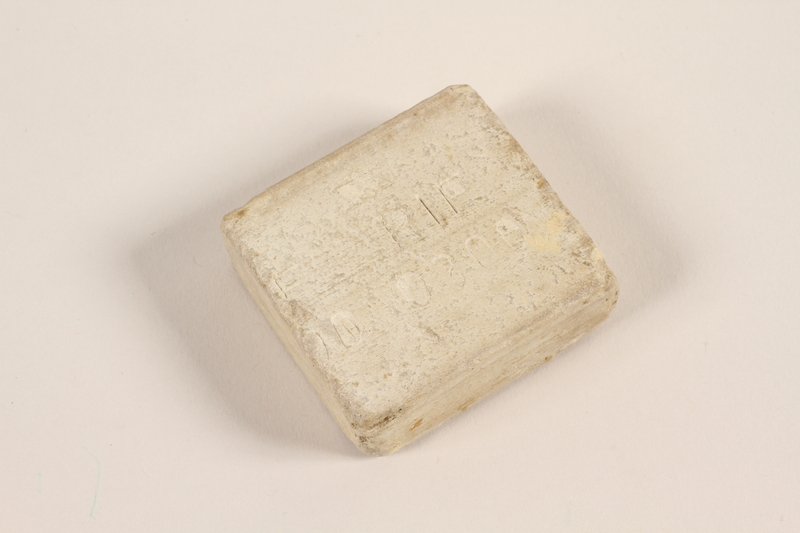 1994.60.3 front Soap issued in Landsberg labor camp