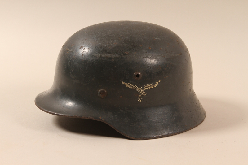 1994.64.1 left side Combat helmet with a Reichsadler and swastika