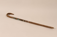1994.64.2_a back Metal covered cane used by a member of the German army  Click to enlarge