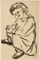 1988.1.22 front Drawing of a young boy drawn by a German Jewish internee  Click to enlarge