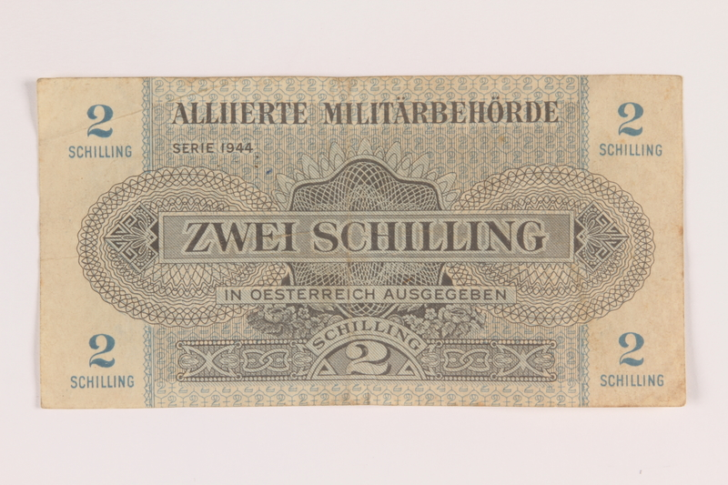 2017 483 8 Front Allied Military Authority Currency 2 Schilling For Use In Austria
