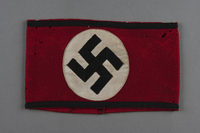 2014.299.3 front Nazi armband acquired by a US Army nurse  Click to enlarge