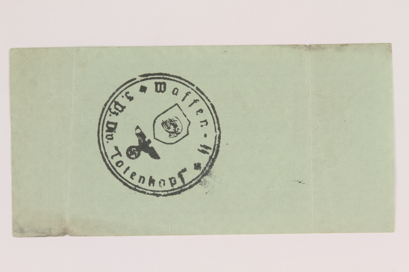 2014.201.5 back German Army, 10 Reichspfennig note