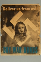 1994.67.1 front U.S. War Bonds anti-Nazi leaflet  Click to enlarge