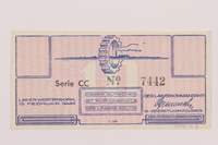 1994.7.2 front Westerbork transit camp voucher, 10 cent note  Click to enlarge