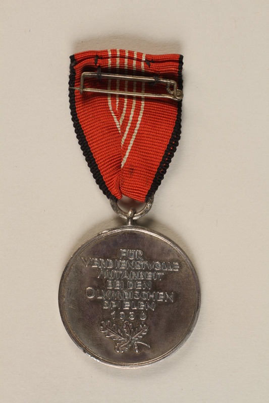 1994.70.1 back Medal for the 1936 Olympic Games in Berlin