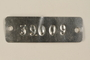 Auschwitz concentration camp metal prisoner identification tag