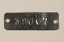 Auschwitz concentration camp metal prisoner identification tag