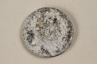 1994.79.3 back Łódź (Litzmannstadt) ghetto scrip, 5 mark coin  Click to enlarge