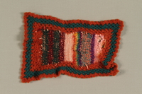 1994.8.2 front Knit square made from yarn remnants in Theresienstadt  Click to enlarge