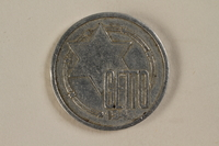 1994.90.1 front Łódź (Litzmannstadt) ghetto scrip, 10 mark coin  Click to enlarge