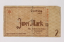 Łódź (Litzmannstadt) ghetto scrip, 2 mark note acquired by a Polish Jewish survivor