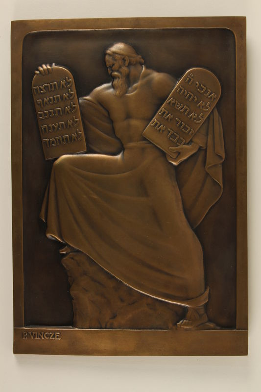1994.97.4 front Sculpture of Moses presented to honor a lawyer's dedication to the rule of law