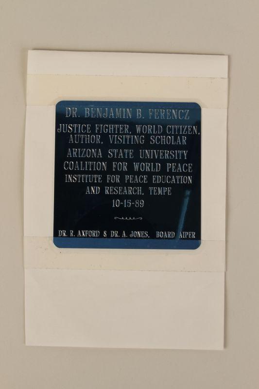 1994.97.8 front Plaque