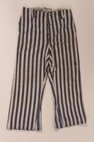 2012.441.2 b front Concentration camp uniform owned postwar by a Belgian Jewish survivor  Click to enlarge