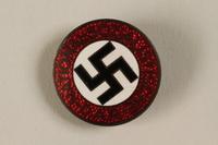 1994.124.1 front NSDAP membership badge  Click to enlarge